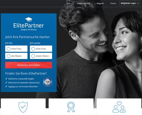 ElitePartner Partnervermittlung Startseite