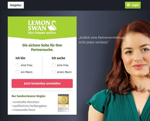 LemonSwan Partnervermittlung Startseite