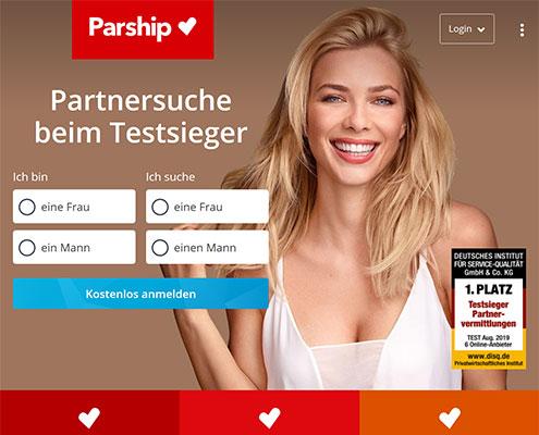 Parship Partnervermittlung Startseite
